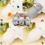 Kawaii Slow Soft Rising Squishy Squeezen Dingding Cute Mini Cat Fidget Toy Stress Reliever Kids Toy Gift Raptop (A)