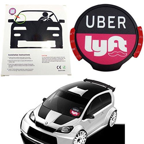 Uber Car Combo Sign Manual Lyft Led Light Sign Bright Glowing Car Logo Wireless UBER And LYFT SignsCar LED Smart Car (Sign Womens Light)
