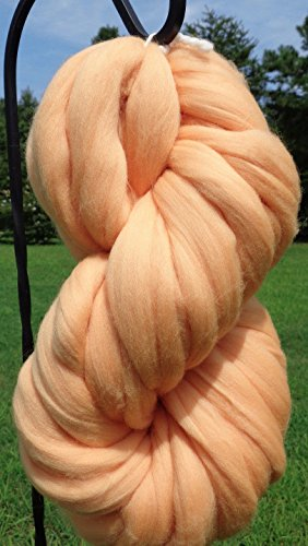 Nude Peach Merino Wool Top Roving Fiber Spinning, Felting Crafts USA - Nude Usa