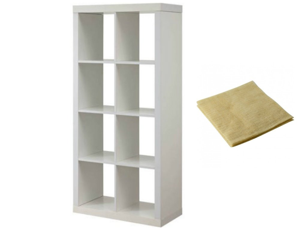 Modern Better Homes and Gardens 8-Cube Organizer in White with a Bonus Dust Cloth
