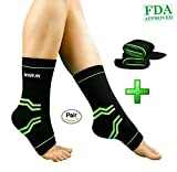 Ankle Brace-Breathable Ankle Support-Adjustable Achilles Tendon Support-Pain Relief Ankle Braces-Ankle Compression Sleeve Perfect for Sport