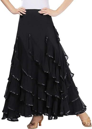 Falda de Baile Moderno para Mujer Salón de Baile Baile de vals ...