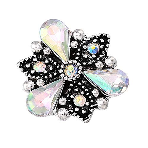- Hebel 3D 18mm Rhinestone Drill Snaps Chunk Charm Button for Noosa Leather Bracelets10 | Model BRCLT - 28900 |