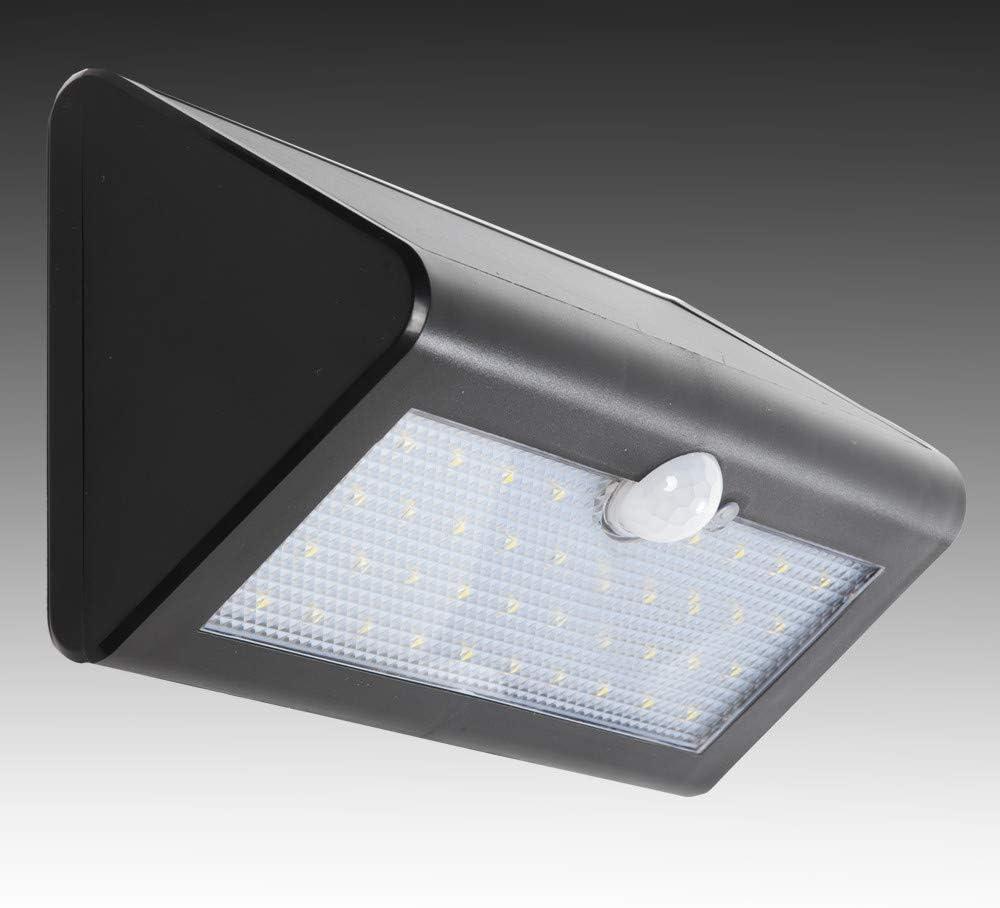 Greenice | Aplique LED Solar IP65 38x2835SMD Sensor Luz + Movimiento | Blanco Frío: Amazon.es: Iluminación