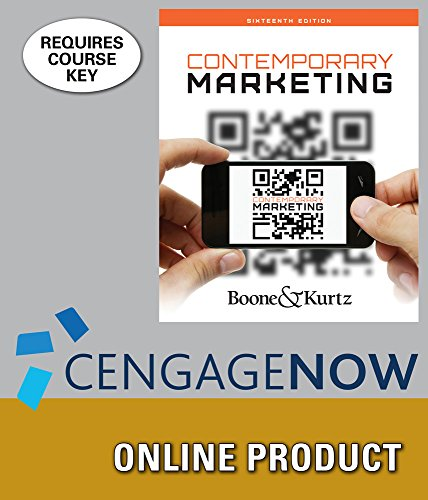 CengageNOW Business and Company Resource Center for Boone/Kurtz's Contemporary Marketing, 16th Edition (Contemporary Business 16th Edition By Boone And Kurtz)