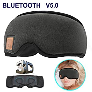 MOITA Sleep Headphones Bluetooth Sleep Mask, 3D Sleeping Eye Mask with Built-in Sponge Speakers, Wireless Bluetooth…
