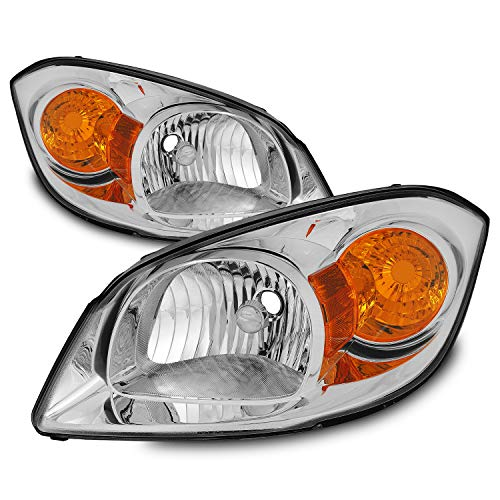 For 07-10 Pontiac G5 05-10 Chevy Cobalt 05-06 Pontiac Pursuit Headlights Front Lamps Replacement Pair