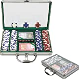 Trademark Poker 200 Holdem Poker Chip Set with Clear Cover Aluminum Case, 11.5gm