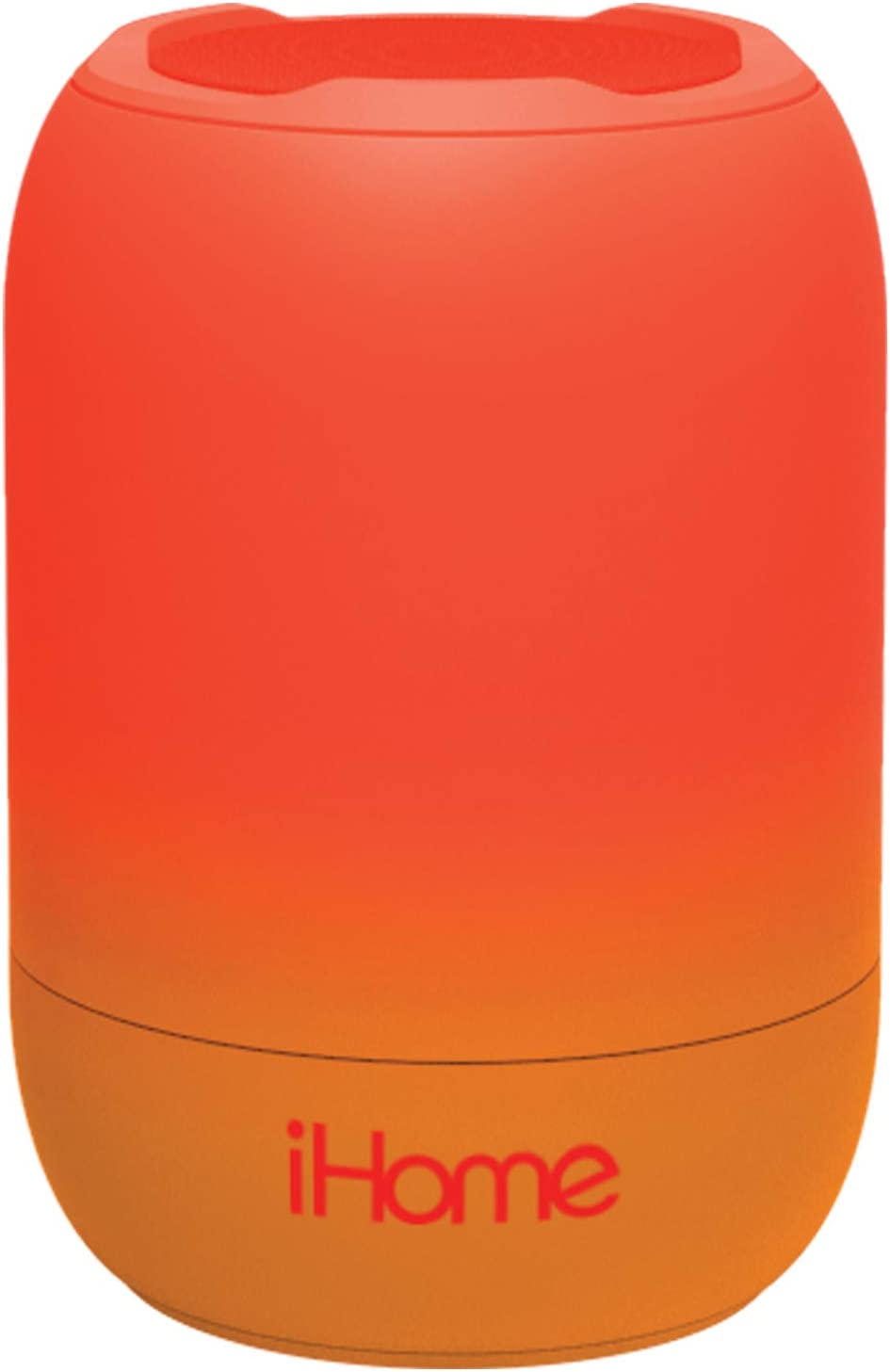 iHome PlayFade Portable Bluetooth Speaker - Water-Resistant Rechargeable Audio Device for Outdoor Events, Pool Party, Beach, Camping (Model iBT400R) RED