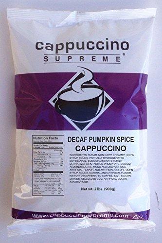 Cappuccino Supreme 2 lb bag Decaf Pumpkin Spice Instant Cappuccino Mix