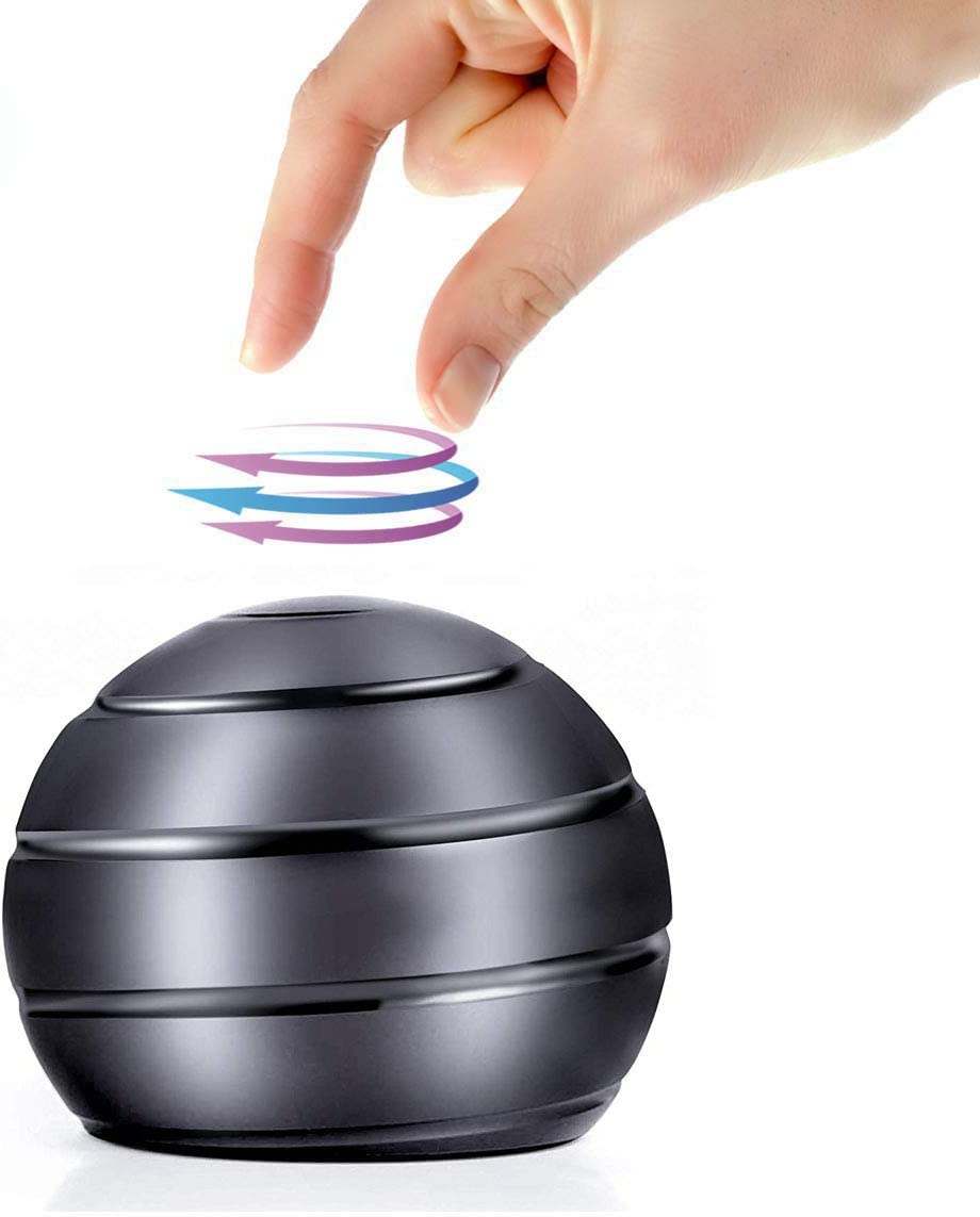 BeautyChen Kinetic Desk Toy for Adults Office Stress Relief with Full Body Optical Illusion Stress Anxiety Relief Metal Ball for Kids and Adults 2.1