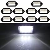 cciyu 10Pcs 3 LED License Plate Tag Light Boat Rv Truck Trailer Interior Step Lamp