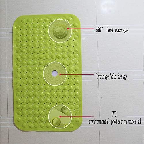 GHHQQZ バスルームのカーペット 大きい ノンスリップ マッサージ 吸盤付き PVC シャワー トイレ フットパッド 家庭 バスルームラグ、 5色、 複数のサイズ (Color : Blue, Size : 56x87cm)