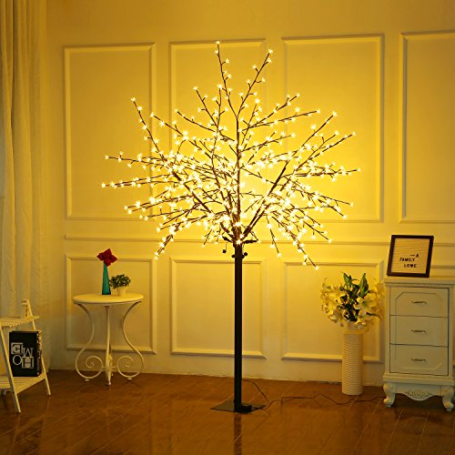 Bolylight LED Cherry Blossom Tree 8ft 600L LED with Light Controller Decoration Lighted Tree for Bedroom/Party/Wedding/Office/Home Indoor and Outdoor Use Warm White from Bolylight