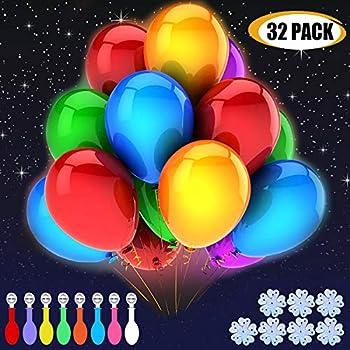 Amazoncom Gigalumi 30 Pack Led Light Up Balloons Premium Mixed