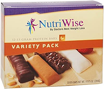 NutriWise - High Protein Diet Bar (7 per box), Gluten Free (Variety)