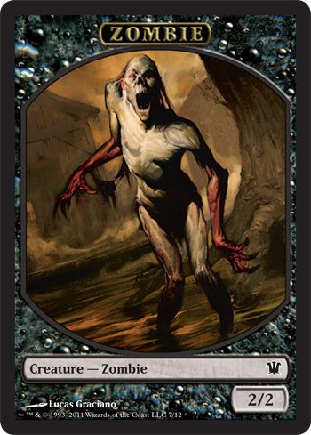 - Magic: the Gathering - Zombie Token A - Innistrad