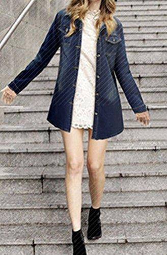 Bleu 5 Femme Blouson All Foncé ttUq8wR