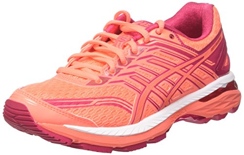 ASICS Women's Gt-2000 5 Running Shoe Flash Coral/Coral Pink/Bright Rose