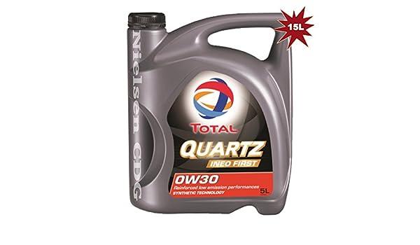 TOTAL Quartz Ineo First 0w30 Aceite de motor totalmente sintético - 3 x 5 l=15 litros: Amazon.es: Coche y moto