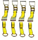 """Mytee Products (4 Pack) 2"""" x10' Lasso Ratchet Strap"""