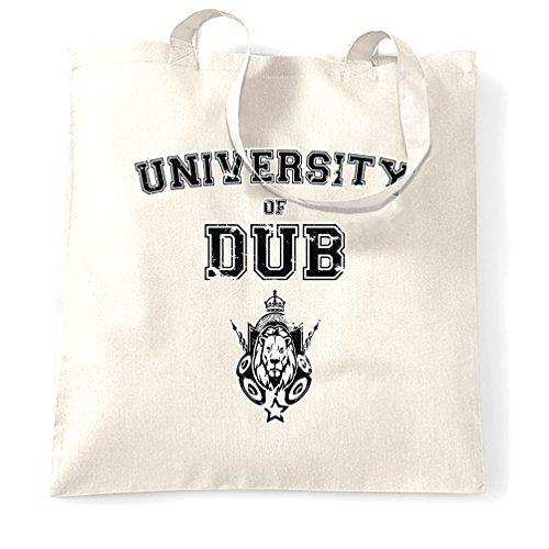 Tote Shopping Bag Gift Music University Of Dub Sound Design System Reggae Bass Rasta Rastafarian Step Jamaica Lion Graduate College Uni Birthday Cool Printed Shopping Handbag Gift for (University Bass Bag)