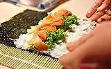 BambooMN Sushi Making Kit 2x Natural Bamboo Rolling Mats, 1x Rice Paddle, 1x Spreader | 100% Bamboo Mats and Utensils