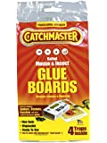 Catchmaster 1872SD Mouse Insect and Snake Glue Boards, 4-Pack