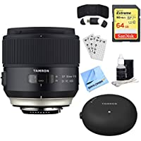 Tamron SP 35mm f/1.8 Di VC USD Lens for Canon EOS Mount (AFF012C-700) + Accessory Bundle Includes, Tamron TAP-In Console Lens Accessory, 64GB Memory Card, Card Reader, Card Wallet & More