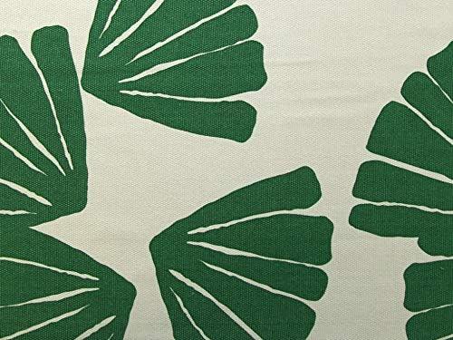 Tela de algodón grueso al corte – hojas verdes – Fondo blanco – 10 cm: Amazon.es: Hogar