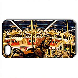 on a wonderful carousel - Case Cover for iPhone 4 and 4s (Amusement Parks Series, Watercolor style, Black) by lolosakes