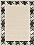 Cheap A2Z Rug Modern Contemporary Area Rug Geometric Beige 9′ x 12′ FT Santorini Collection Rugs – rugs for living room – rugs for dining room & bedroom – Floor Carpet