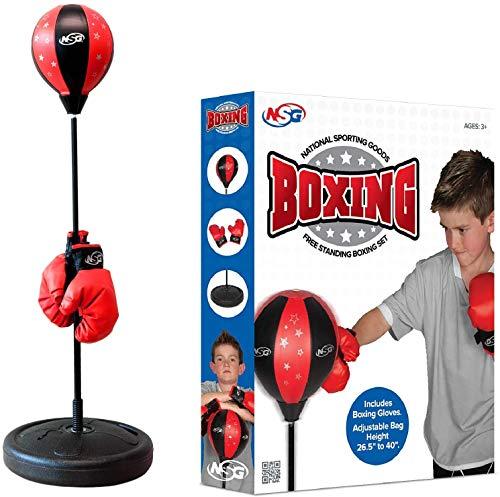 NSG Free Standing Junior Boxing Set (Black/Red)