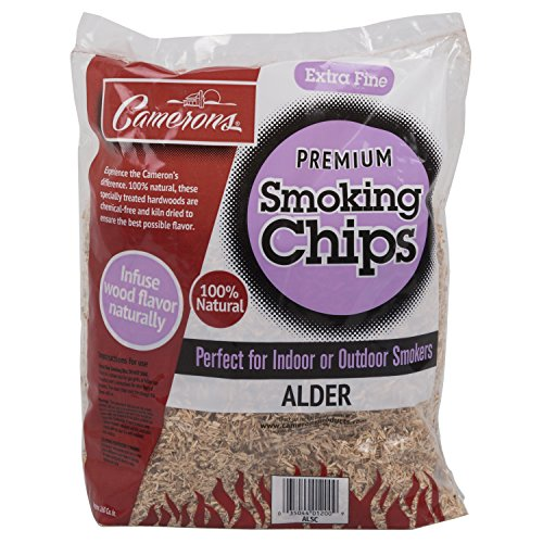 Chips Smoking Alder Wood (Camerons Products Smoking Chips - (Alder) Kiln Dried, Natural Extra Fine Wood Smoker Sawdust Shavings - 2 Pound Bag Barbecue Chips)