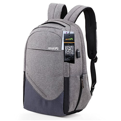 Joyelife Backpack Laptop Bag Water Resistant Business Daypack With Usb Charging Port Anti Theft Ligh