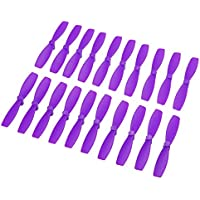 BangBang 10 Pairs Racerstar 2030 R-BN55 55mm 2 Blade Bullnose Propeller 1.5mm Hole For 1103-1106 Motor (10 Pairs: Color Purple)
