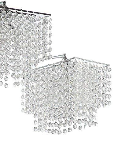 Coaster Home Furnishings Arc Floor Lamp with Poly Crystal Shades Chrome by Coaster Home Furnishings (Image #1)