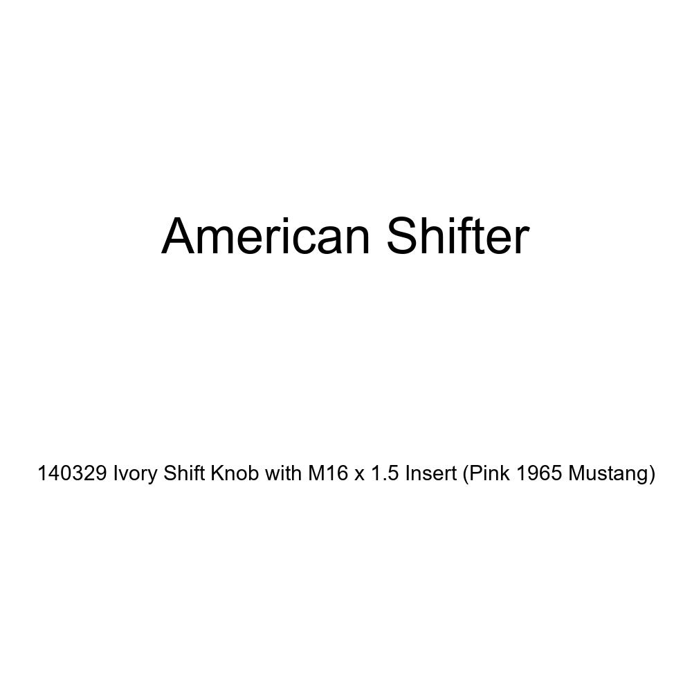 American Shifter 140329 Ivory Shift Knob with M16 x 1.5 Insert Pink 1965 Mustang