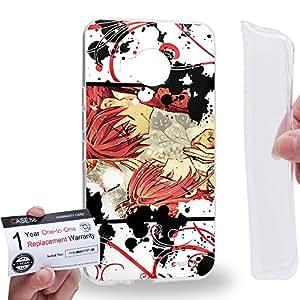Case88 [HTC ONE M9+ (PLUS)] Gel TPU Carcasa/Funda & Tarjeta de garantía - Tusbasa Chronicle Syaoran Sakura 1402