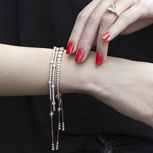 CARAT* London femme  Argent 925/1000  Argent|#Silver Rond   Blanc Andere