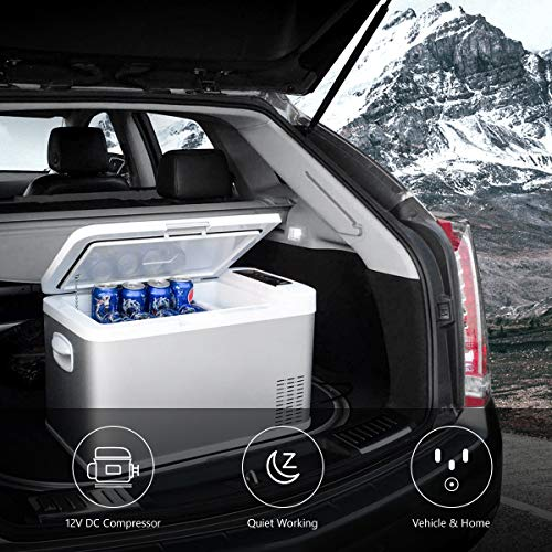 Ausranvik 26-Quart Portable Fridge Car Refrigerator Car Fridge Car Freezer -4°F ~ 68°F - 12V/24V DC by Ausranvik (Image #1)