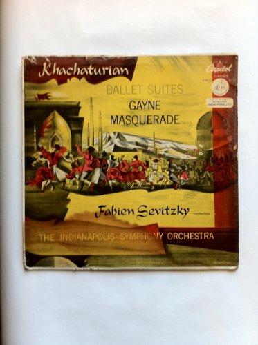 - KHACHATURIAN'S GAYNE & MASQUERADE SUITES - Fabien Sevitzky cond. Indianapolis Sym.Orch. - CAPITOL P-8223 (MONO) [LP RECORD]