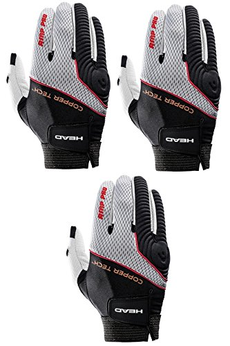 HEAD Three (3) AMP Pro Copper Tech Racquetball Glove Right Large
