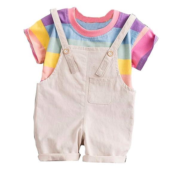 Baiomawzh Counjunto de Ropa Bebé Niño Verano Camisas Mangas Cortas ...