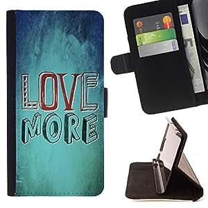 BullDog Case - FOR/Samsung Galaxy S4 Mini i9190 / - / LOVE MORE /- Monedero de cuero de la PU Llevar cubierta de la caja con el ID Credit Card Slots Flip funda de cuer