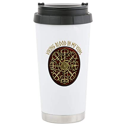 f0d9072f6c3 Image Unavailable. Image not available for. Color: Nordic Guidance - Viking  Blood Travel Mug Stainless Steel Travel Mug, Insulated 16 oz.
