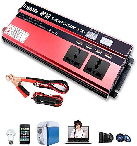 DJNBQ 1600W 2200W 2400W de energía de Coche Inversor de la CC 12V ...