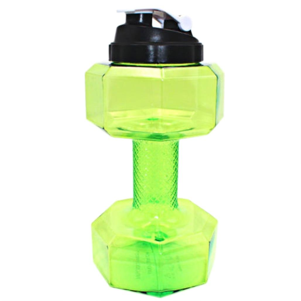 Deporte botella de agua botella de viaje, jaminy 2.2 L PETG mancuernas grande botella de agua libre Deportes Running Fitness eléctrica Gimnasio, ...