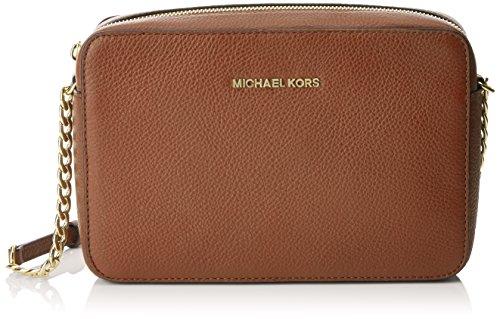 Michael Kors Bedford Large, Sacs bandoulière femme, Brown (Luggage), 25x17x6 cm (L x H L)