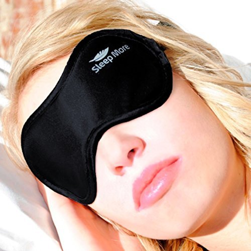 Sleep More Mask (Large-XL) Sleeping Masks for Men or Women. A Quality BLACK Satin Travel Mask and...